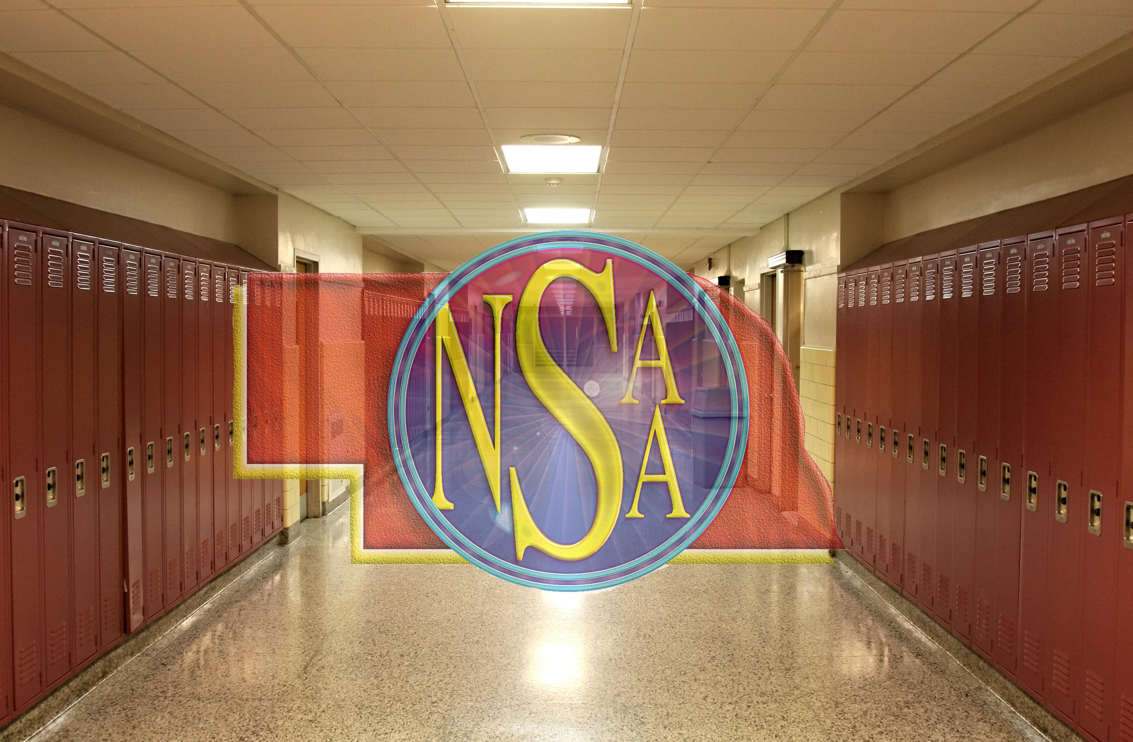 Empty School Hallway with Student Lockers