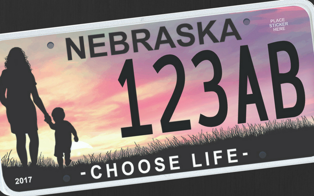 gov. ricketts reveals nebraska choose life license plate, available