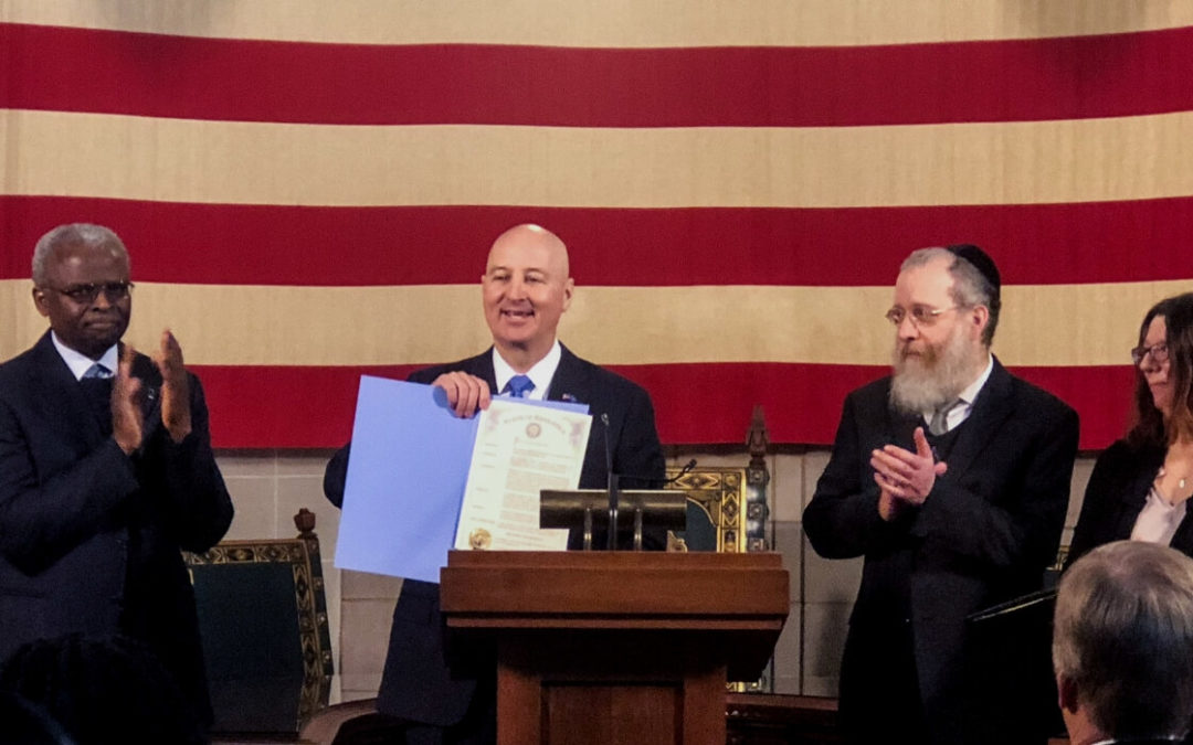 Press Release: Governor Ricketts Signs Proclamation Recognizing Religious Freedom Day in Nebraska